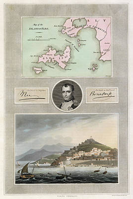 Drawing - Napoleon, Elba Island by Granger