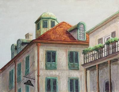Wall Art - Pastel - Napoleon House, New Orleans by Candy Mayer