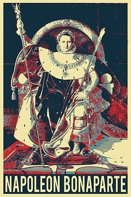 Digital Art - Napoleon I On His Imperial Throne - Revisited by Serge Averbukh