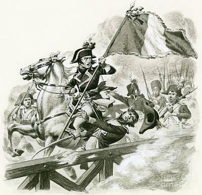 Lodi Painting - Napoleon Leading His Army Across The Bridge At Lodi by Pat Nicolle