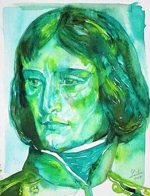 Painting - Napoleon - Watercolor Portrait.3 by Fabrizio Cassetta