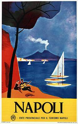 Royalty-Free and Rights-Managed Images - Napoli - Naples, Italy - Beach - Retro Advertising Poster - Vintage Poster by Studio Grafiikka
