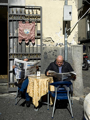 Photograph - Napoli News, Naples, 2011. by John Jacquemain