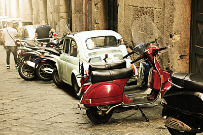 Photograph - Napoli Parking by Steve Natale