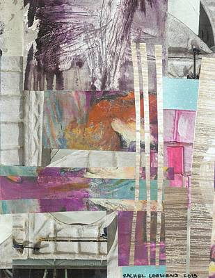 Mixed Media - Naptime Collage 01 by Rachel Loewens