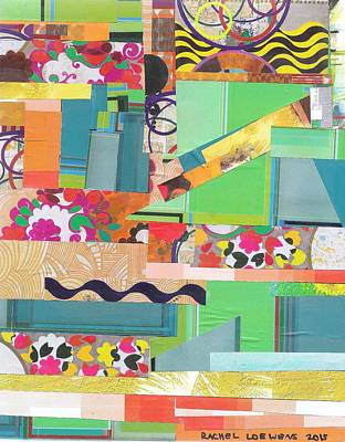 Mixed Media - Naptime Collage 06 by Rachel Loewens