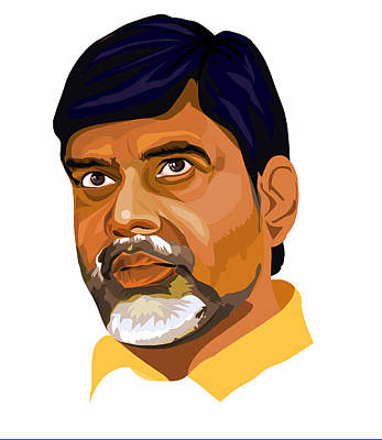 Venkat Digital Art - Nara Chandrababu Naidu by Venkat Meruvu