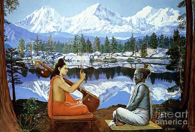 Painting - Narada Instructs Srila Vyasadeva by Dominique Amendola