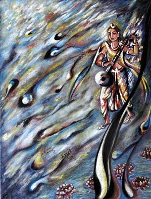 Narada Muni Art Print by Harsh Malik