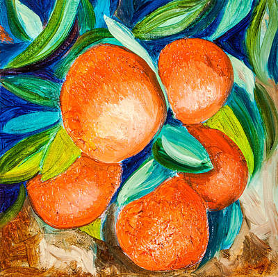 Painting - Naranjas by Jenny anne Morrison