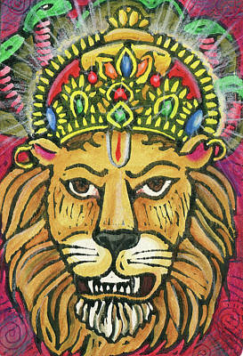 Mixed Media - Narasimha by Jennifer Mazzucco