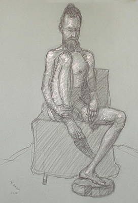 Drawing - Narayan Seated 1 by Donelli  DiMaria
