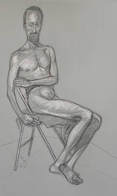 Drawing - Narayan Seated 3 by Donelli  DiMaria
