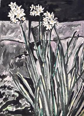 Painting - Narcissus At Night by Esther Newman-Cohen