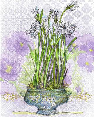 Drawing - Narcissus by Cathie Richardson