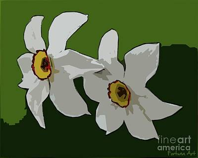 Digital Art - Narcissus Flower by Dragica Micki Fortuna