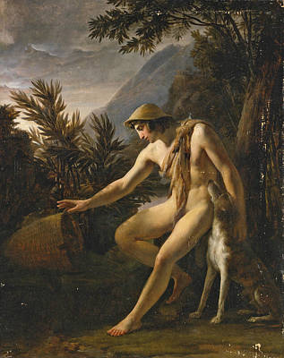 Jean Alaux Painting - Narcissus by Jean Alaux