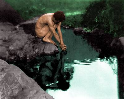 Painting - Narcissus by Troy Caperton