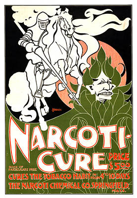 Mixed Media - Narcoti-cure - Narcoti Chemical Co - Vintage Advertising Poster by Studio Grafiikka