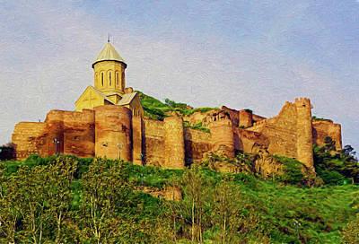 Mixed Media - Narikala Castle by Dennis Cox