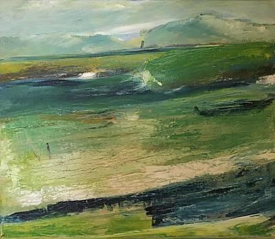 Painting - Narin Beach, Donegal Ireland by Mary Feeney