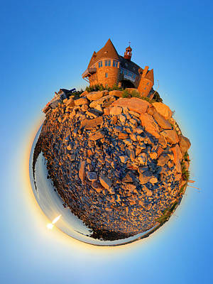 Coastal Photograph - Narraganset Towers 2- Planet by Christopher Blake
