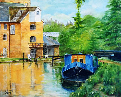 Painting - Narrow Boat At Coxe's Lock by Steve James