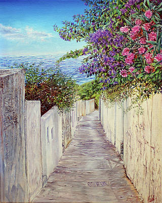 Painting - Narrow Flower Lane  by Michel Angelo Rossi