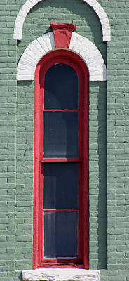 Photograph - Narrow Green Window by Mary Bedy