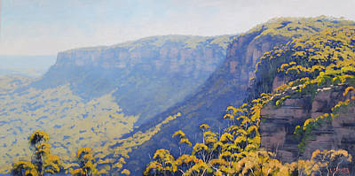 Mountain Valley Painting - Narrow Neck Katoomba by Graham Gercken