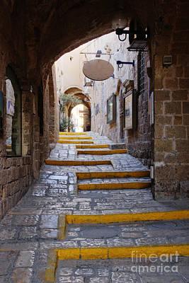 Jaffa Photograph - Narrow Old Style Street by Jeremy Woodhouse