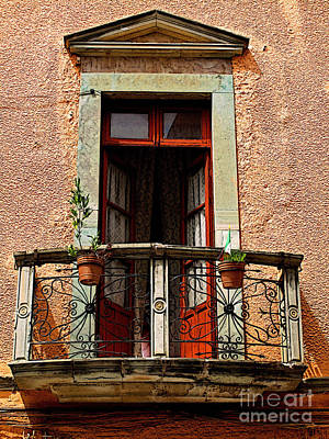 Narrow Red Window Art Print by Mexicolors Art Photography