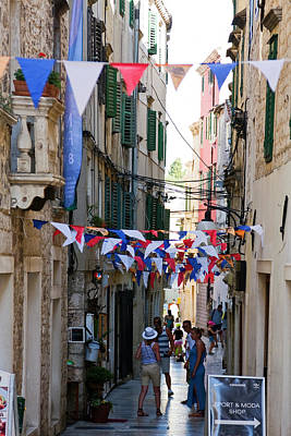 Photograph - Narrow Sibenik Street by Sally Weigand