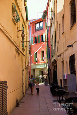 Photograph - Narrow Street Europe France  by Chuck Kuhn
