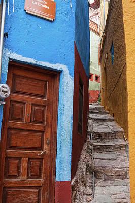 Photograph - Narrow Street In Guanajuato, Mexico 2 by Tatiana Travelways