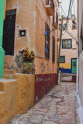 Photograph - Narrow Street In Guanajuato, Mexico by Tatiana Travelways