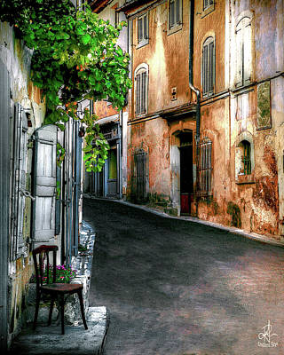 Digital Art - Narrow Street In Menerbes by Pennie McCracken