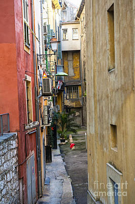 Photograph - Narrow Street In Old Nice by Elena Elisseeva
