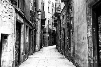 Photograph - Narrow Street In The Gothic Quarter by John Rizzuto