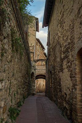 Photograph - Narrow Street With Arch by Radoslav Nedelchev