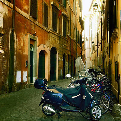narrow streets in Rome Art Print by Joana Kruse