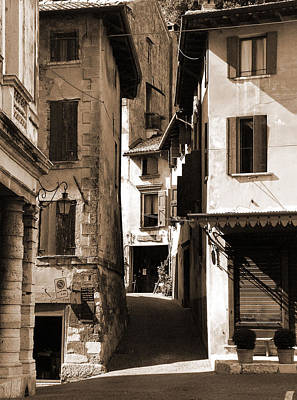 Narrow Streets Of Asolo Art Print