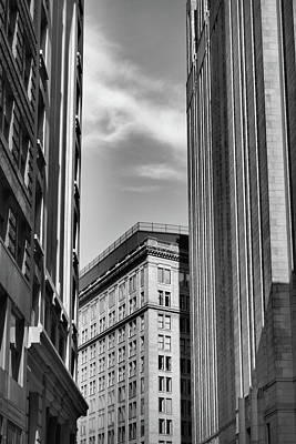 Photograph - Narrow Streets Old Downtown Boston by Nadalyn Larsen