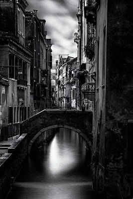 Historic Architecture Photograph - Narrow Venice Canal by Andrew Soundarajan
