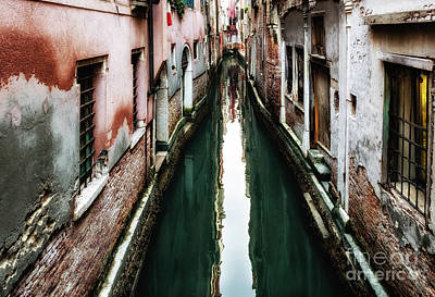 Photograph - Narrow Venice Canal by Miles Whittingham