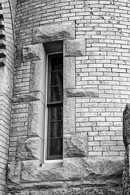 Photograph - Narrow Window Old Mackinac Point by Mary Bedy