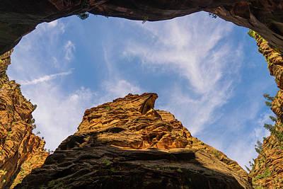 Photograph - Narrows Sky Zion National Park Utah by Lawrence S Richardson Jr