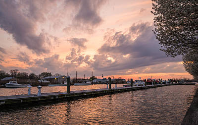 Chesapeake Bay Photograph - Narrows Sunset by Kristopher Schoenleber
