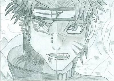 Naruto Drawing - Naruto Vs Pain by Ivan Ivanov
