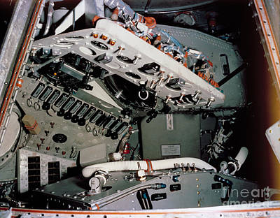 Photograph - Nasa 1961 View Of Mercury Spacecraft Instrument Control Panels by R Muirhead Art